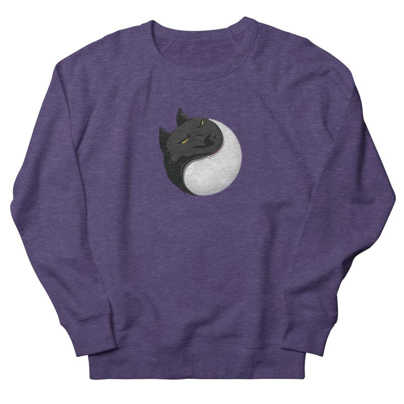 Full Moon Yin Yang Women's French Terry Sweatshirt by AnimatedTdot's Artist Shop