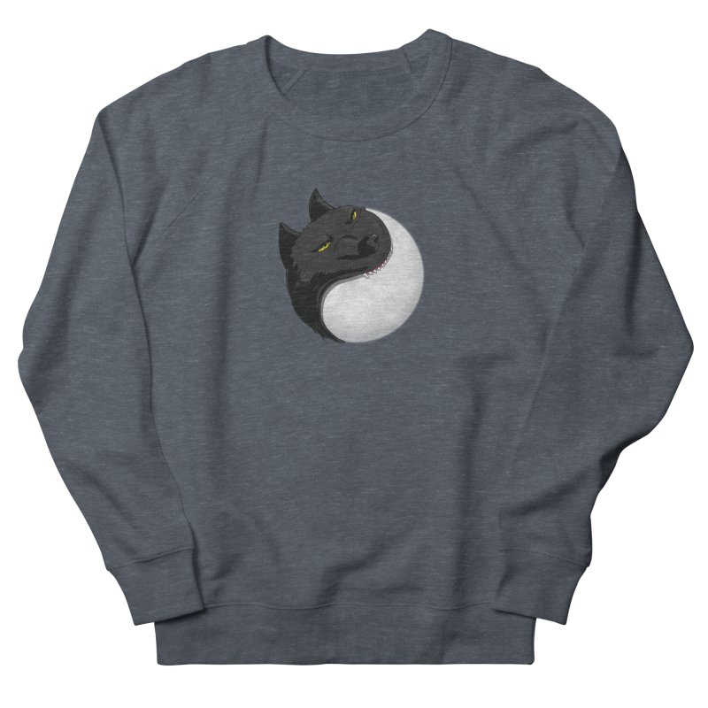 Full Moon Yin Yang Women's French Terry Sweatshirt by AnimatedTdot's Artist Shop