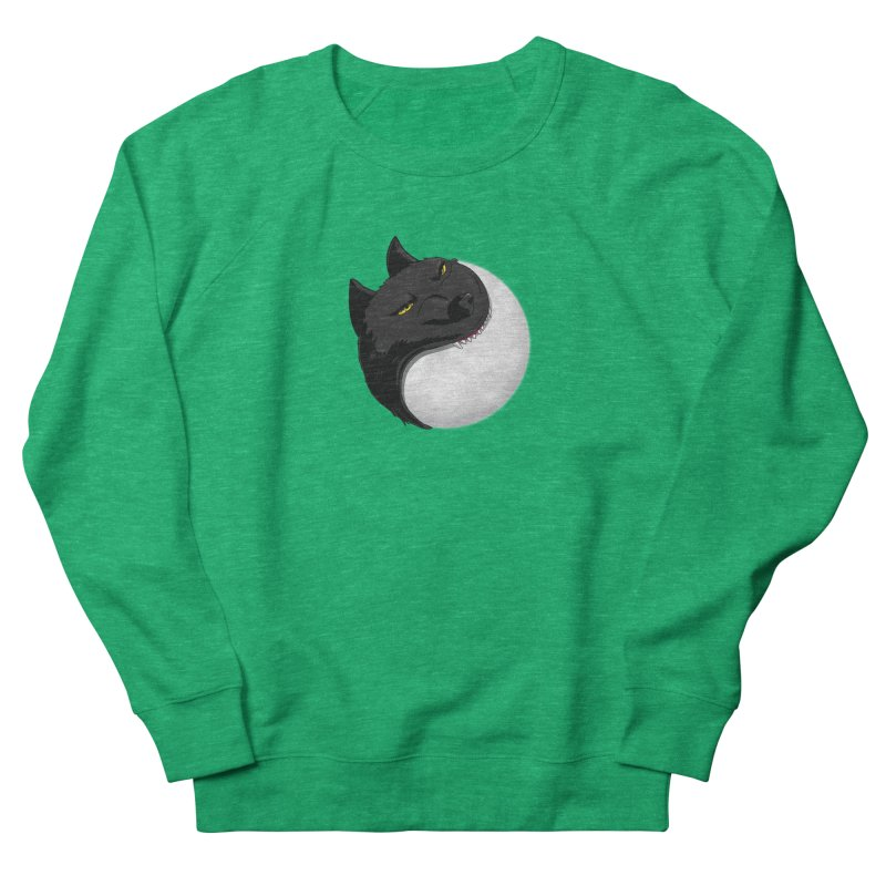 Full Moon Yin Yang Men's French Terry Sweatshirt by AnimatedTdot's Artist Shop