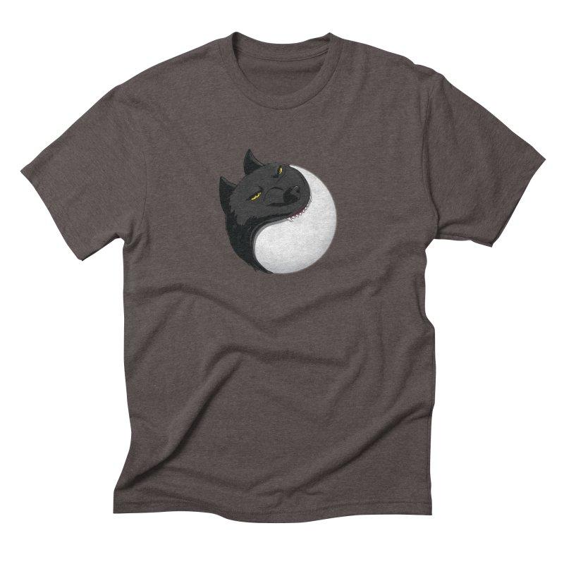Full Moon Yin Yang Men's Triblend T-Shirt by AnimatedTdot's Artist Shop