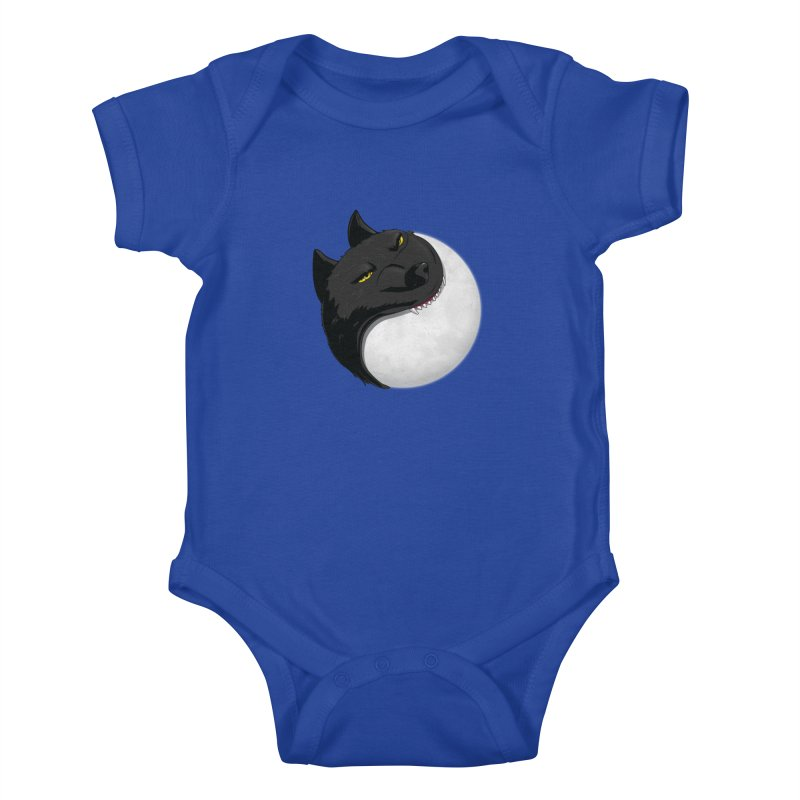 Full Moon Yin Yang Kids Baby Bodysuit by AnimatedTdot's Artist Shop