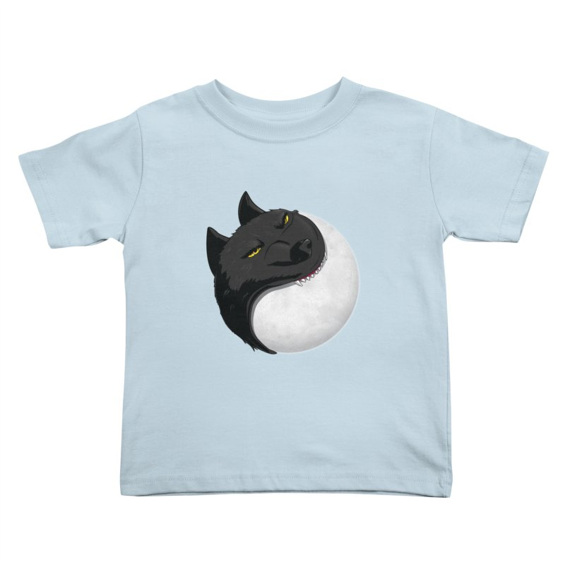 Full Moon Yin Yang Kids Toddler T-Shirt by AnimatedTdot's Artist Shop
