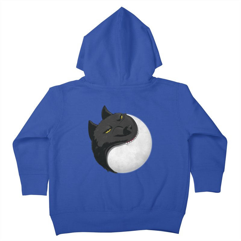 Full Moon Yin Yang Kids Toddler Zip-Up Hoody by AnimatedTdot's Artist Shop
