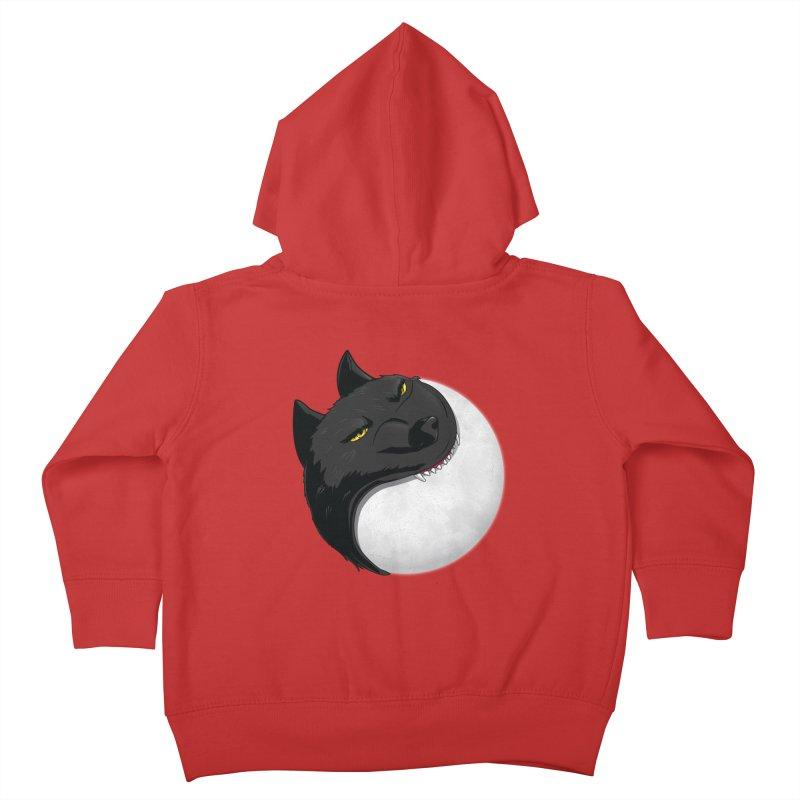 Full Moon Yin Yang Kids Toddler Zip-Up Hoody by AnimatedTdot's Artist Shop