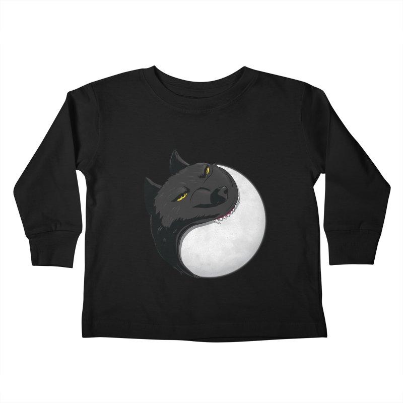 Full Moon Yin Yang Kids Toddler Longsleeve T-Shirt by AnimatedTdot's Artist Shop