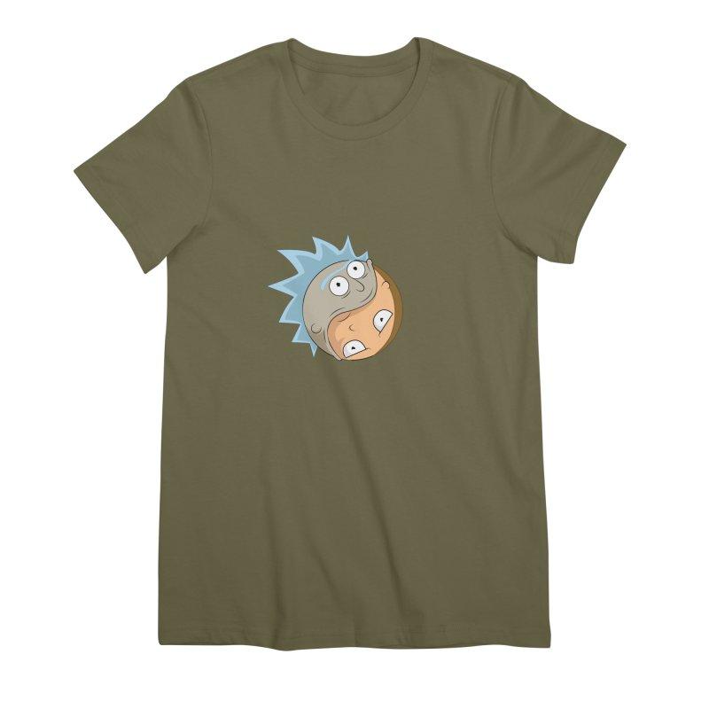 Rick And Morty Yin Yang Women's Premium T-Shirt by AnimatedTdot's Artist Shop