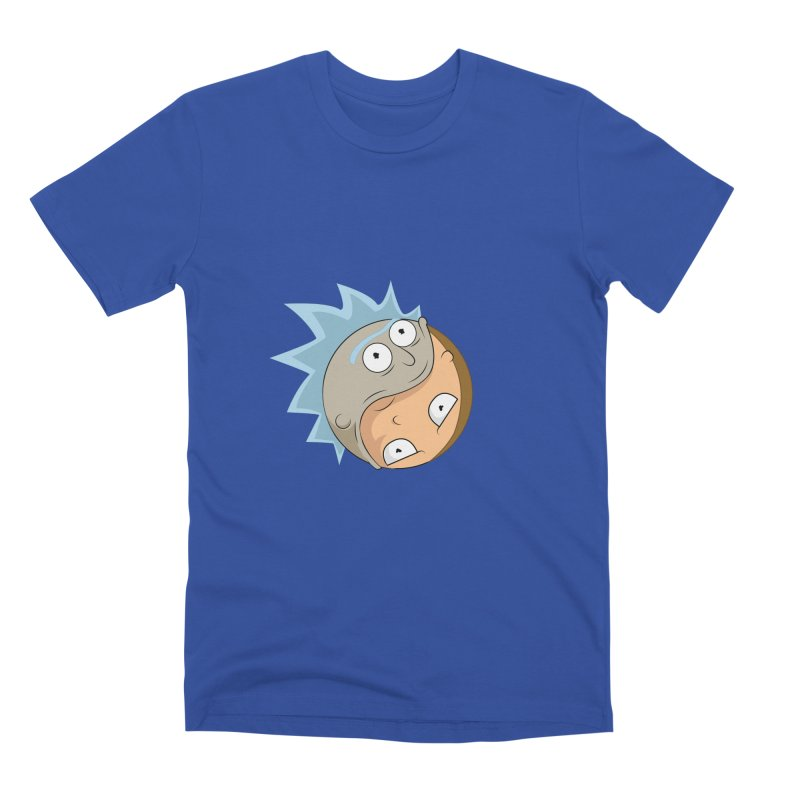 Rick And Morty Yin Yang Men's Premium T-Shirt by AnimatedTdot's Artist Shop