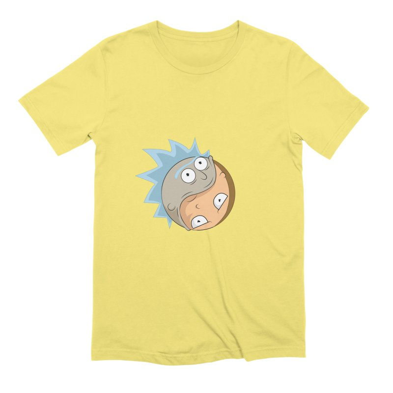 Rick And Morty Yin Yang Men's Extra Soft T-Shirt by AnimatedTdot's Artist Shop