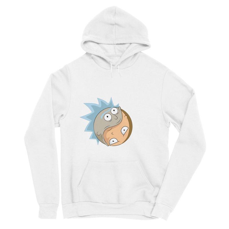Rick And Morty Yin Yang Women's Sponge Fleece Pullover Hoody by AnimatedTdot's Artist Shop