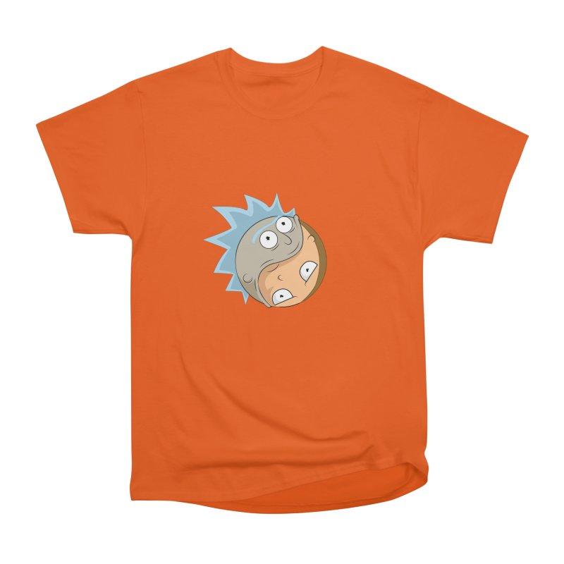 Rick And Morty Yin Yang Women's Heavyweight Unisex T-Shirt by AnimatedTdot's Artist Shop