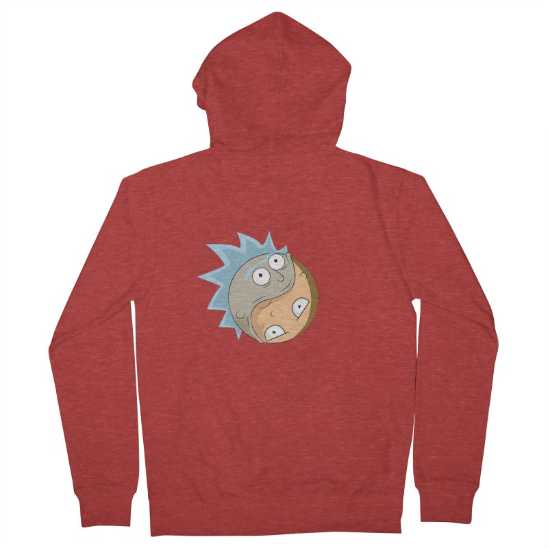 Rick And Morty Yin Yang Women's French Terry Zip-Up Hoody by AnimatedTdot's Artist Shop