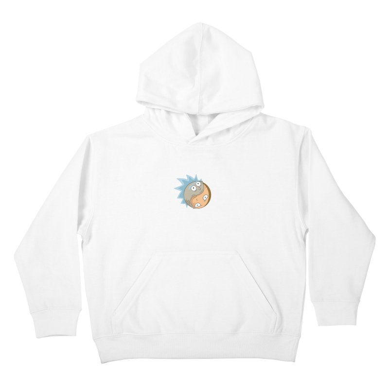 Rick And Morty Yin Yang Kids Pullover Hoody by AnimatedTdot's Artist Shop