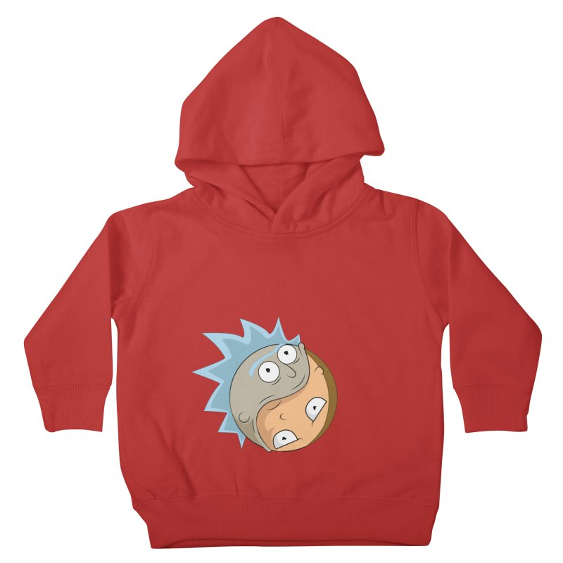 Rick And Morty Yin Yang Kids Toddler Pullover Hoody by AnimatedTdot's Artist Shop
