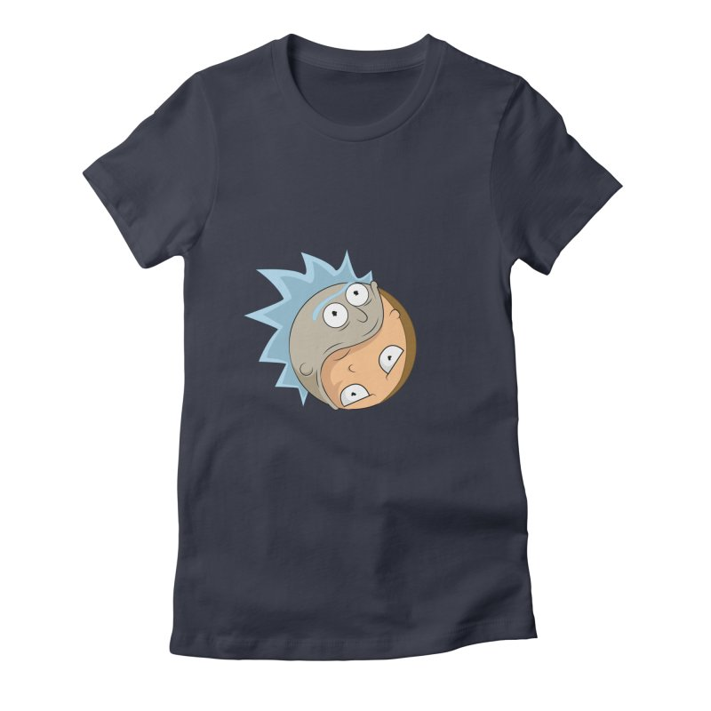 Rick And Morty Yin Yang Women's Fitted T-Shirt by AnimatedTdot's Artist Shop