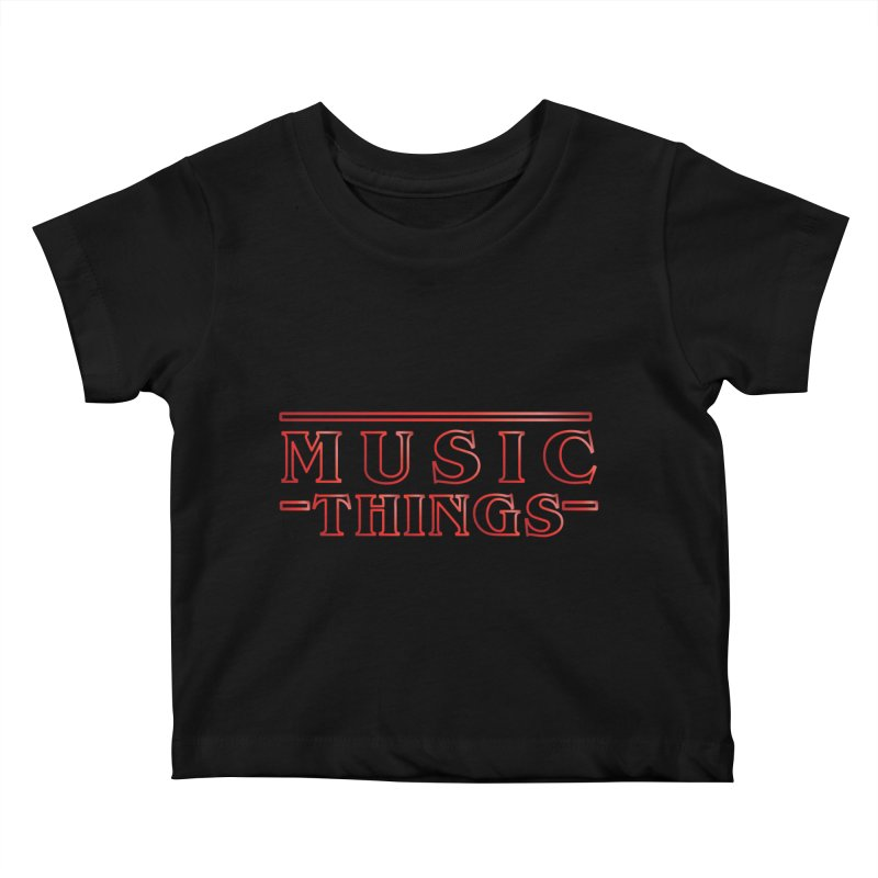 Music Things Kids Baby T-Shirt by AnimatedTdot's Artist Shop