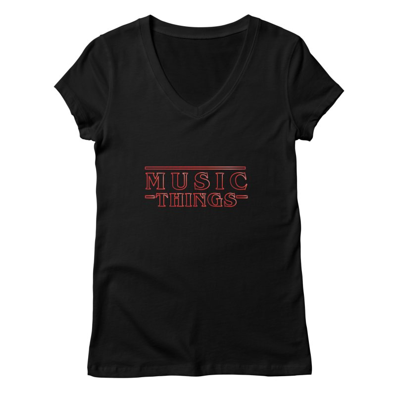 Music Things Women's V-Neck by AnimatedTdot's Artist Shop