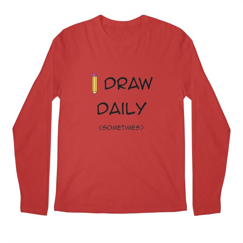 I Draw Sometimes Men's Regular Longsleeve T-Shirt by AnimatedTdot's Artist Shop