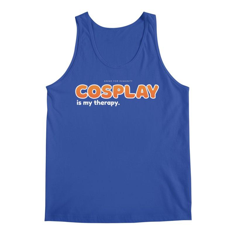 Cosplay is my Therapy (orange) Men's Tank by AnimeForHumanity's Shop