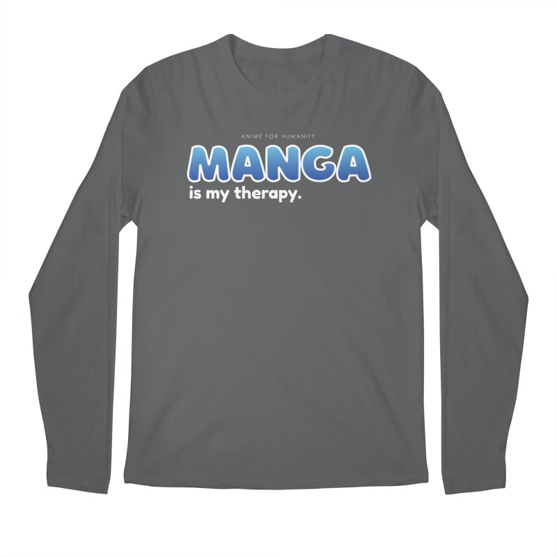 Manga is my Therapy (blue) Men's Longsleeve T-Shirt by AnimeForHumanity's Shop