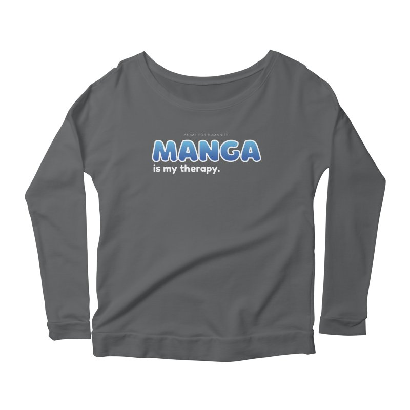 Manga is my Therapy (blue) Women's Longsleeve T-Shirt by AnimeForHumanity's Shop