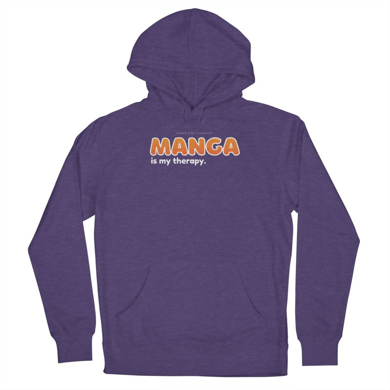 Manga is my Therapy (orange) Men's Pullover Hoody by AnimeForHumanity's Shop