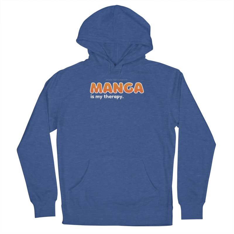 Manga is my Therapy (orange) Men's Pullover Hoody by AnimeForHumanity's Shop