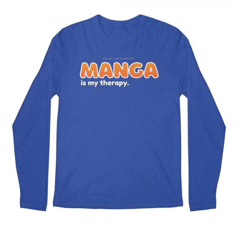 Manga is my Therapy (orange) Men's Longsleeve T-Shirt by AnimeForHumanity's Shop