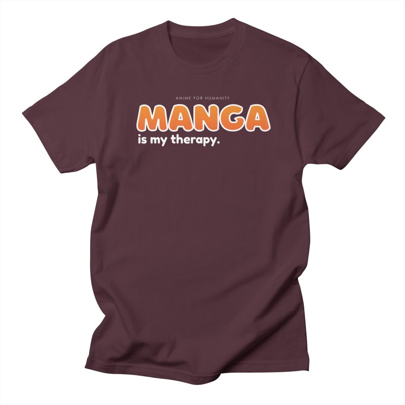 Manga is my Therapy (orange) Women's T-Shirt by AnimeForHumanity's Shop