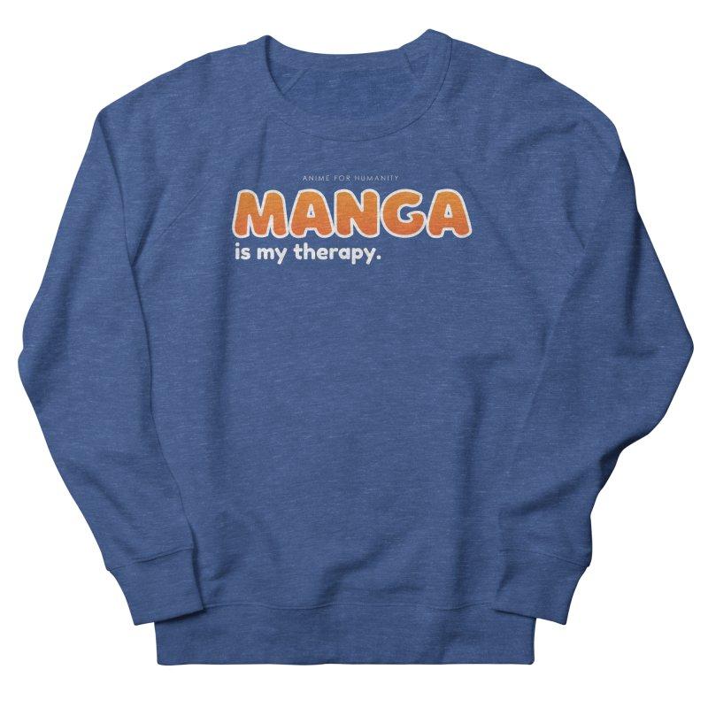 Manga is my Therapy (orange) Women's Sweatshirt by AnimeForHumanity's Shop