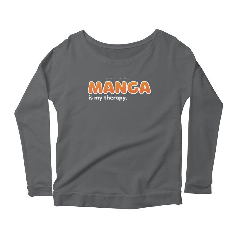 Manga is my Therapy (orange) Women's Longsleeve T-Shirt by AnimeForHumanity's Shop