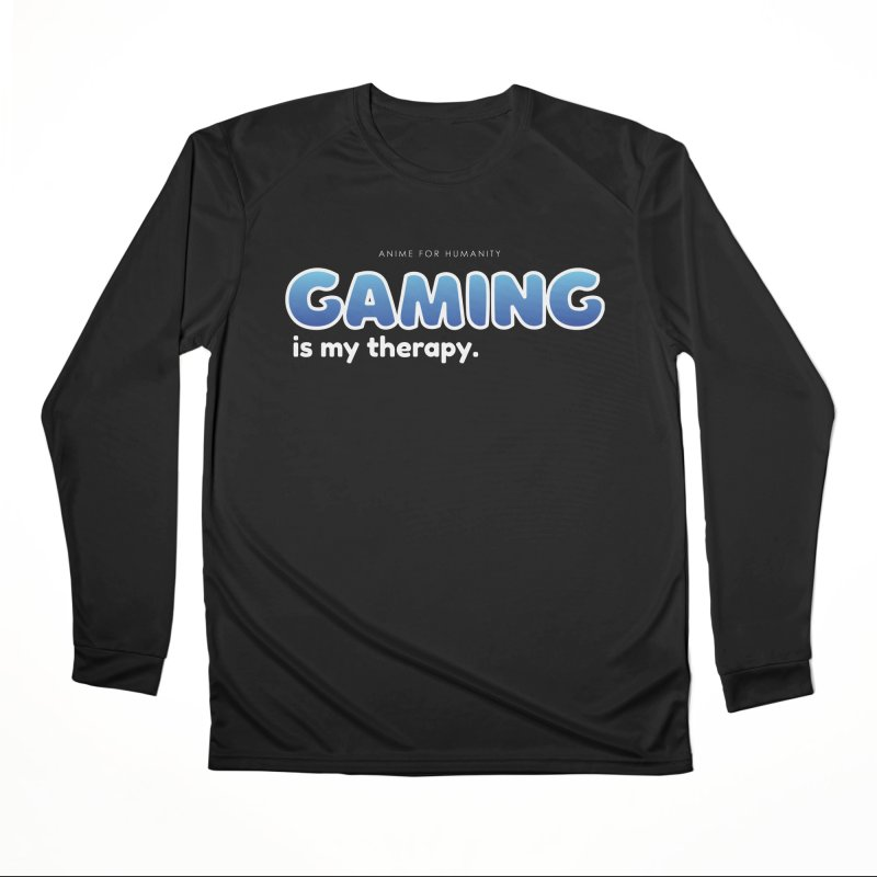 Gaming is my Therapy (blue) Men's Longsleeve T-Shirt by AnimeForHumanity's Shop