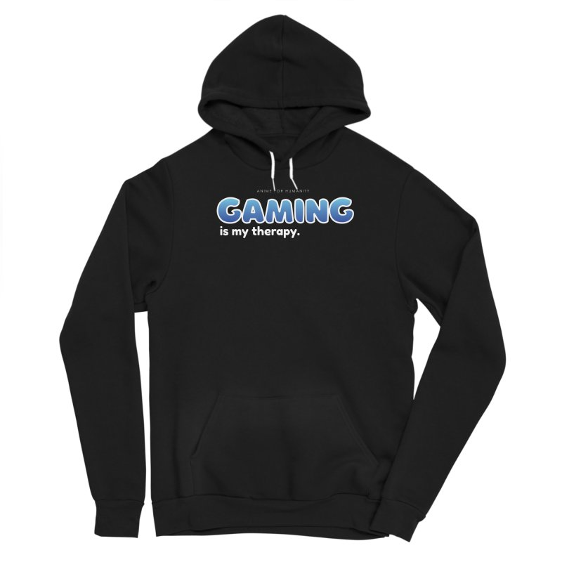 Gaming is my Therapy (blue) Women's Pullover Hoody by AnimeForHumanity's Shop