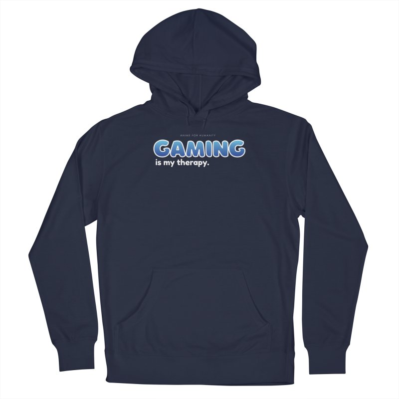 Gaming is my Therapy (blue) Men's Pullover Hoody by AnimeForHumanity's Shop