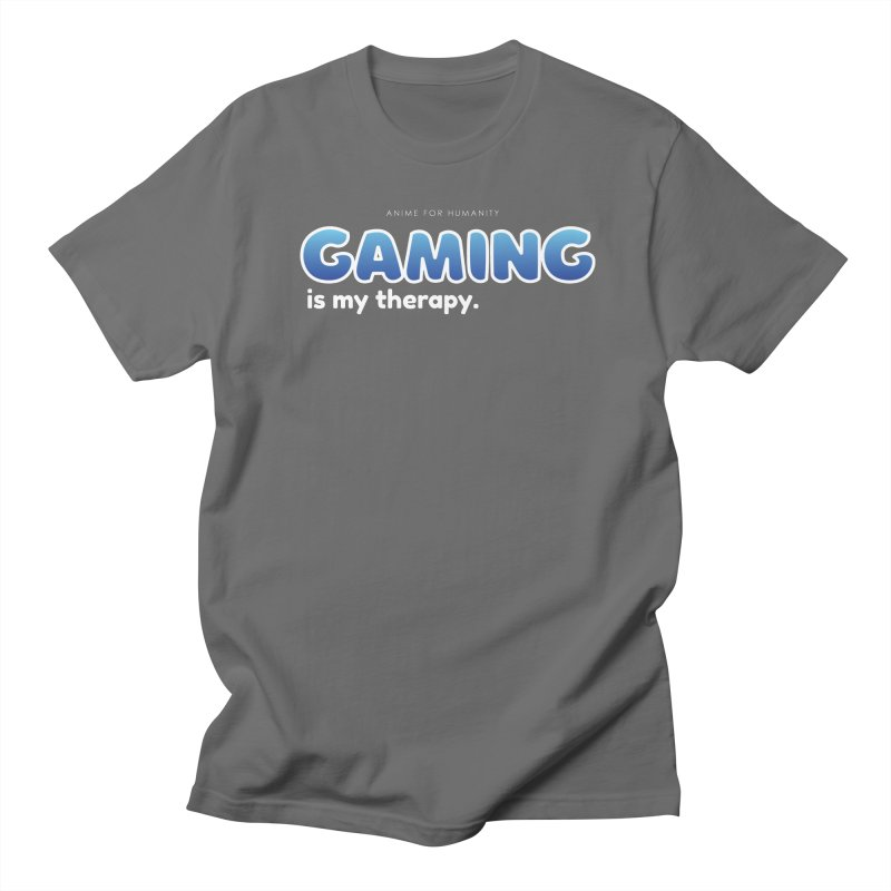 Gaming is my Therapy (blue) Men's T-Shirt by AnimeForHumanity's Shop