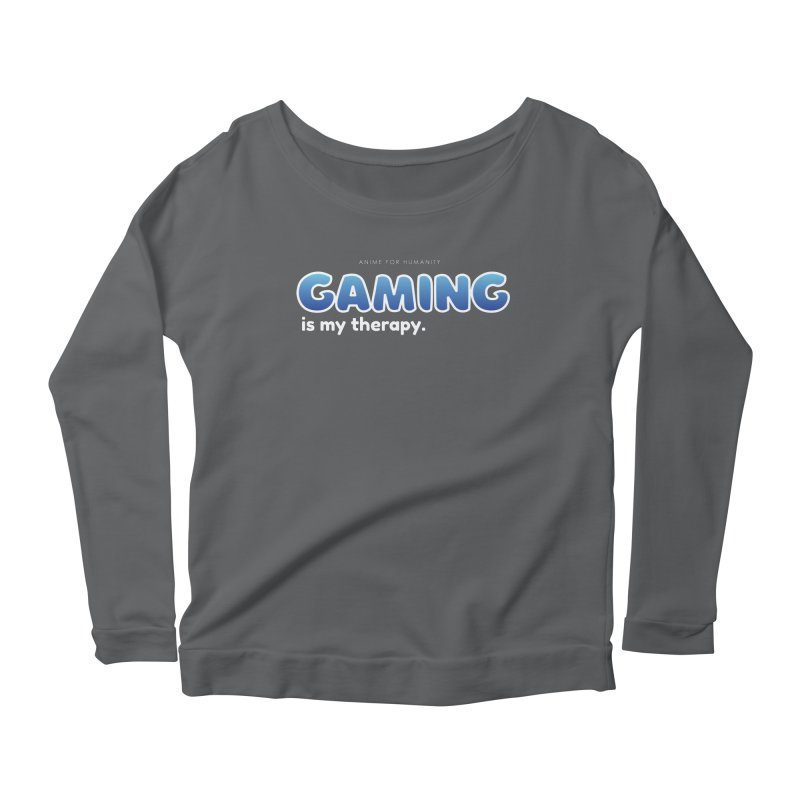 Gaming is my Therapy (blue) Women's Longsleeve T-Shirt by AnimeForHumanity's Shop