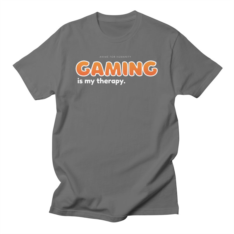 Gaming is my Therapy (orange) Men's T-Shirt by AnimeForHumanity's Shop