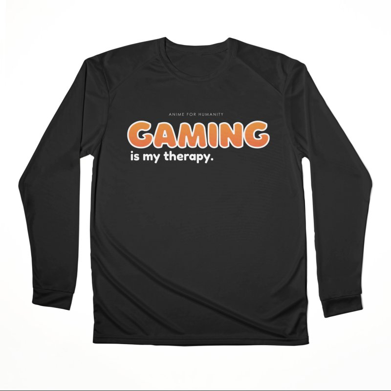 Gaming is my Therapy (orange) Men's Longsleeve T-Shirt by AnimeForHumanity's Shop