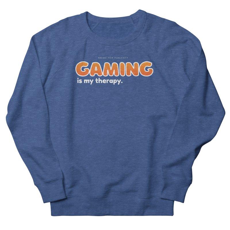 Gaming is my Therapy (orange) Men's Sweatshirt by AnimeForHumanity's Shop