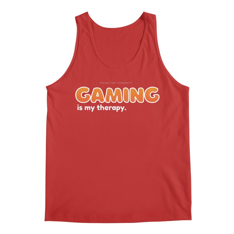 Gaming is my Therapy (orange) Men's Tank by AnimeForHumanity's Shop