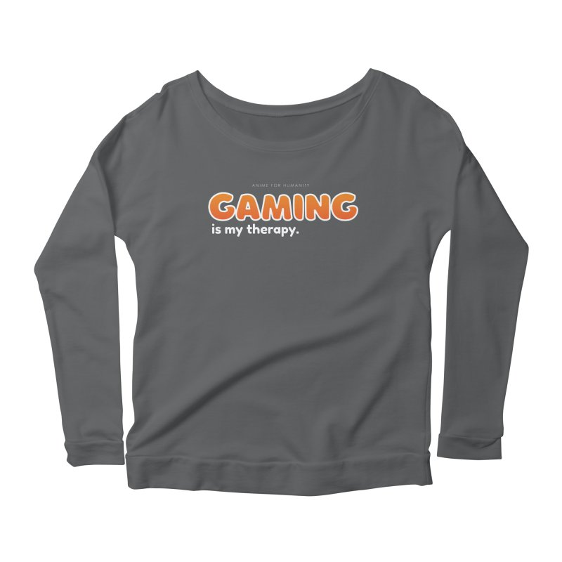 Gaming is my Therapy (orange) Women's Longsleeve T-Shirt by AnimeForHumanity's Shop