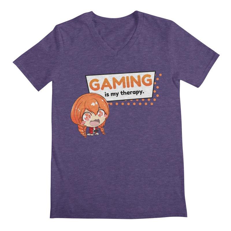 Gaming is my Therapy (Ki-Chan!) Men's V-Neck by AnimeForHumanity's Shop
