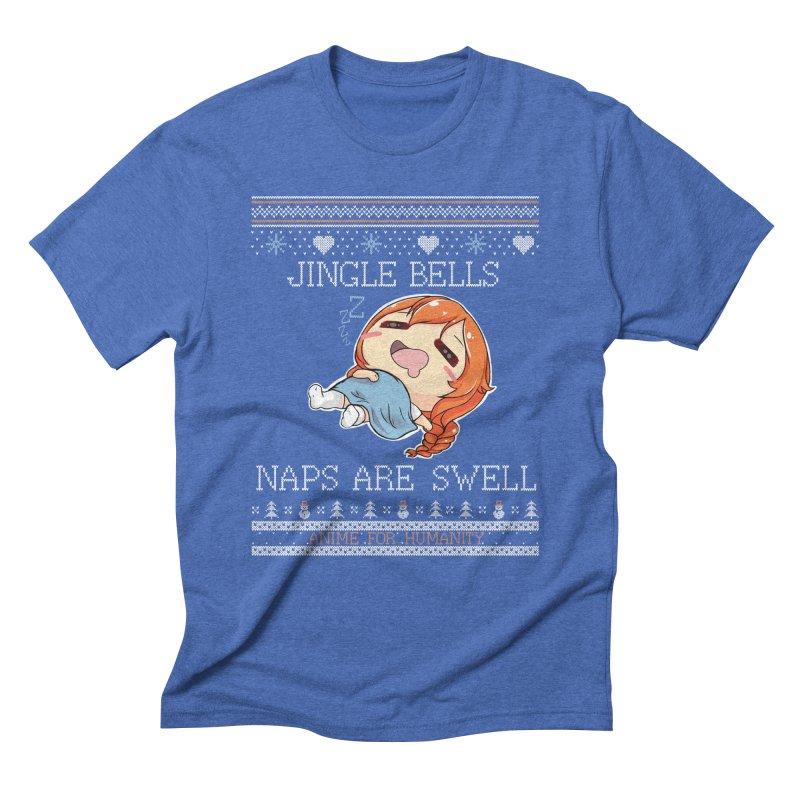 Jingle bells, naps are swell! Men's T-Shirt by AnimeForHumanity's Shop