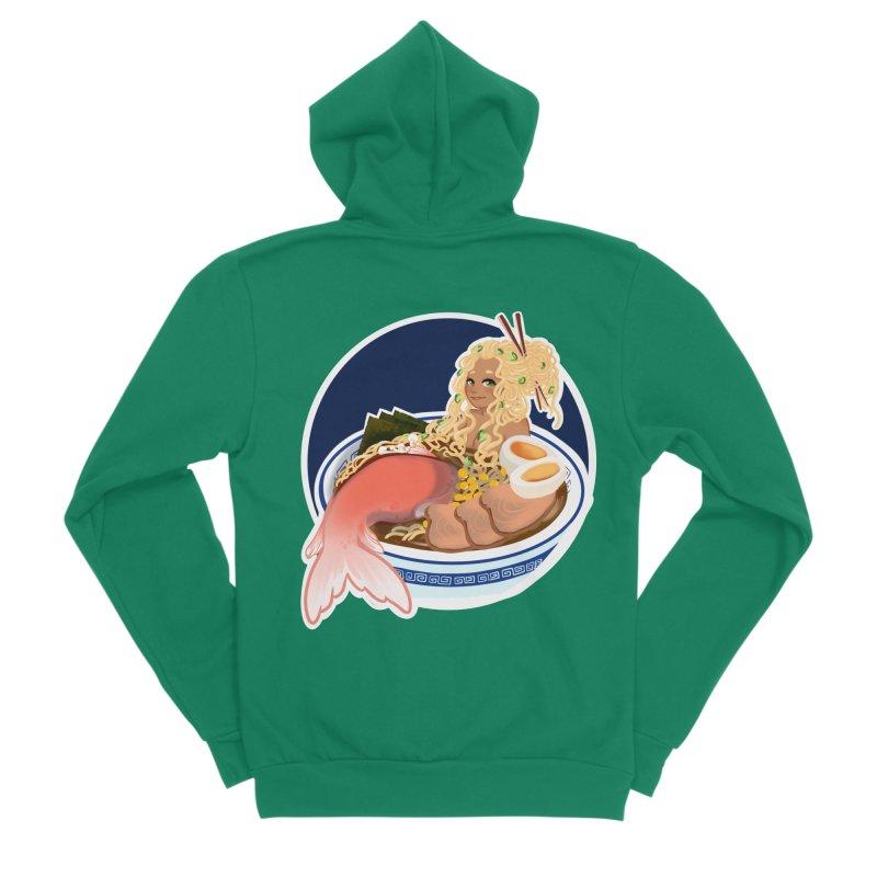 Ramen mermaid Men's Sponge Fleece Zip-Up Hoody by AnimeGravy