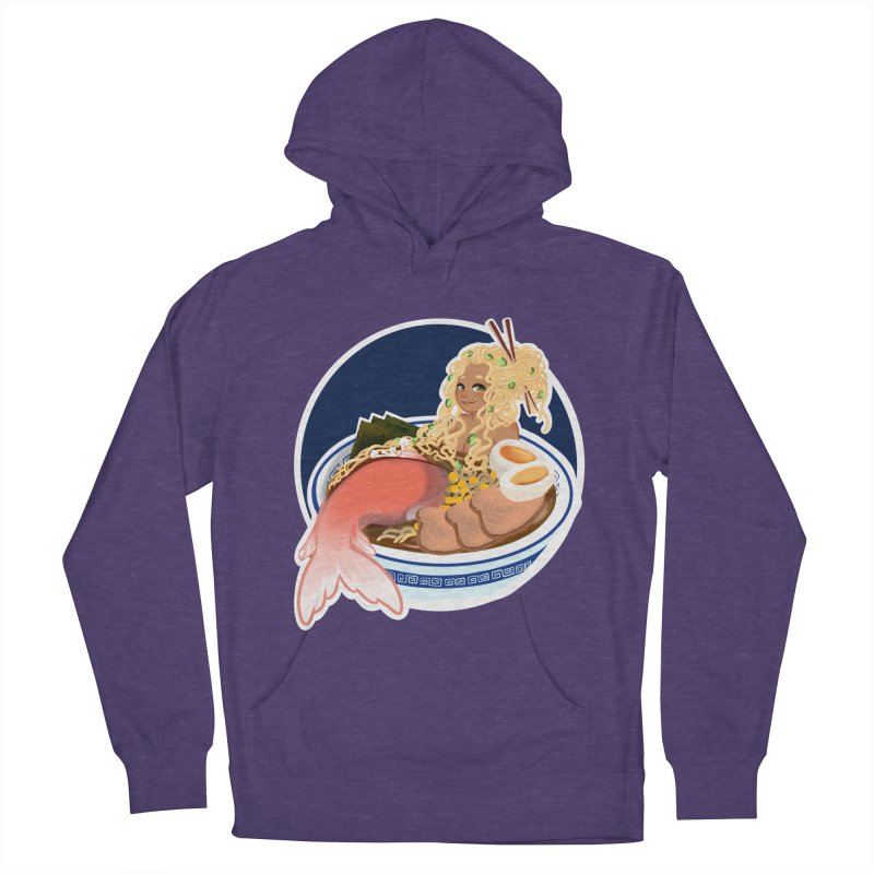 Ramen mermaid Women's French Terry Pullover Hoody by AnimeGravy