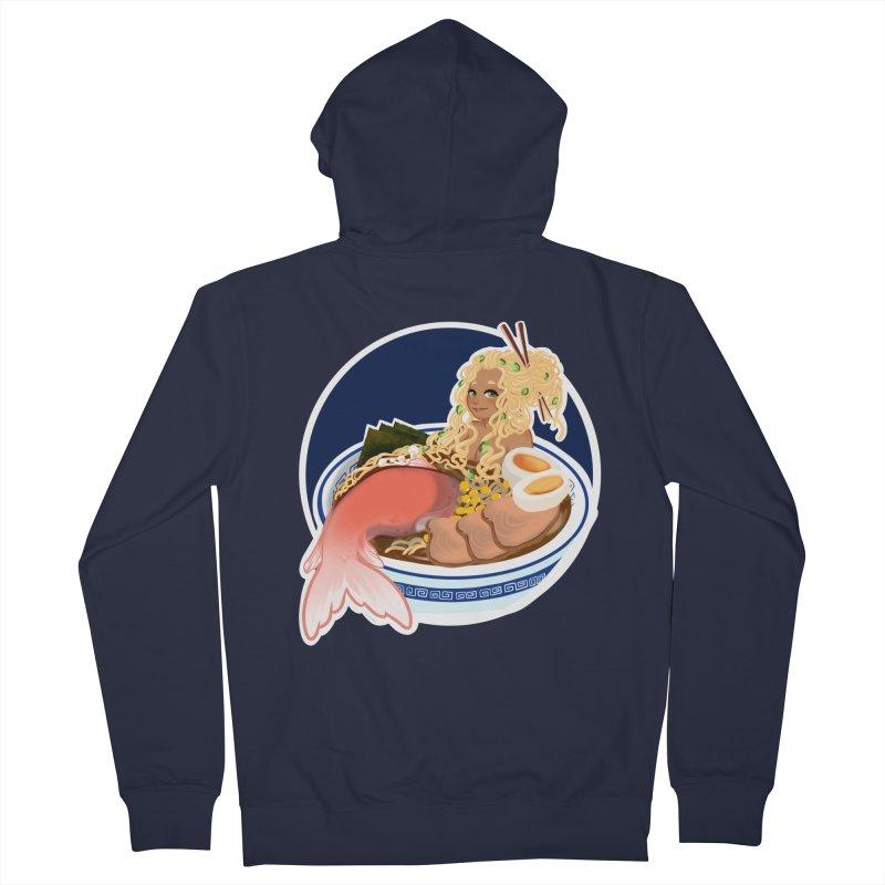 Ramen mermaid Men's French Terry Zip-Up Hoody by AnimeGravy