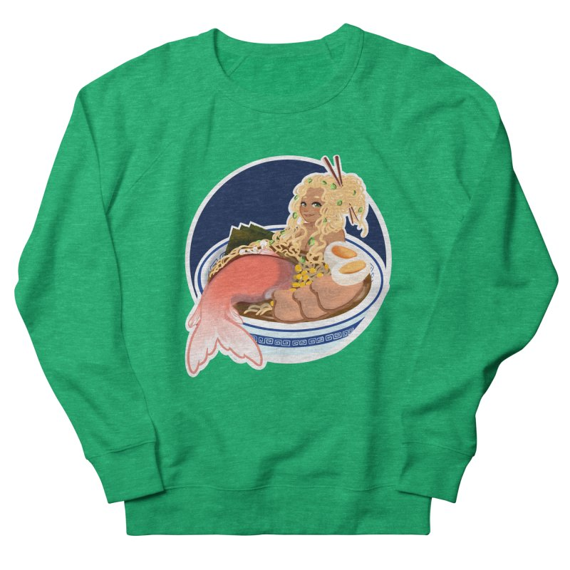 Ramen mermaid Women's French Terry Sweatshirt by AnimeGravy