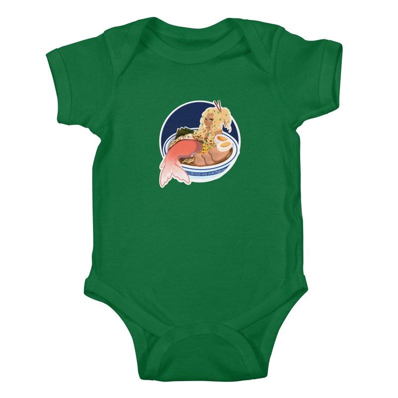 Ramen mermaid Kids Baby Bodysuit by AnimeGravy
