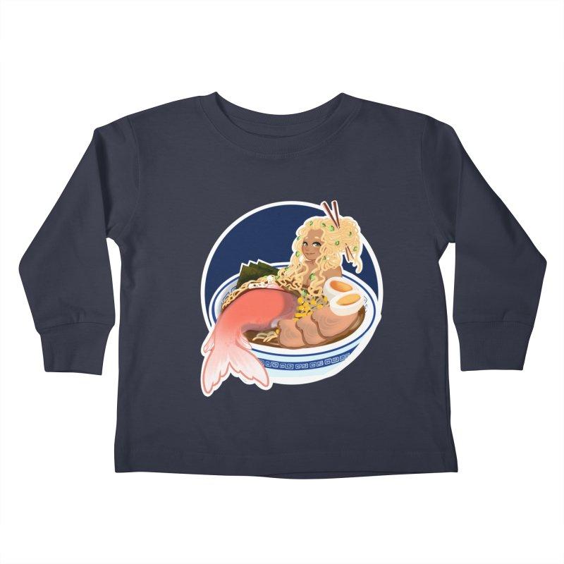 Ramen mermaid Kids Toddler Longsleeve T-Shirt by AnimeGravy