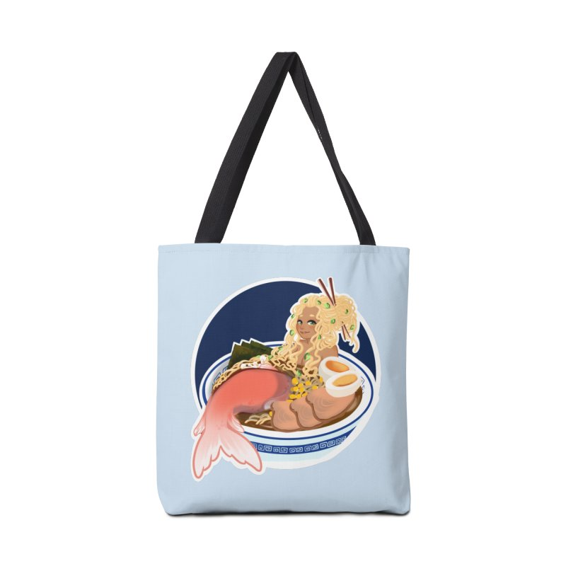 Ramen mermaid Accessories Tote Bag Bag by AnimeGravy