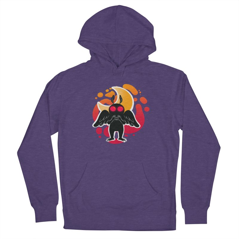 Mothman sends his love Women's French Terry Pullover Hoody by AnimeGravy